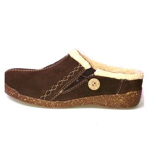 Earth Origins Johanna Suede Slip-On Clog, 7